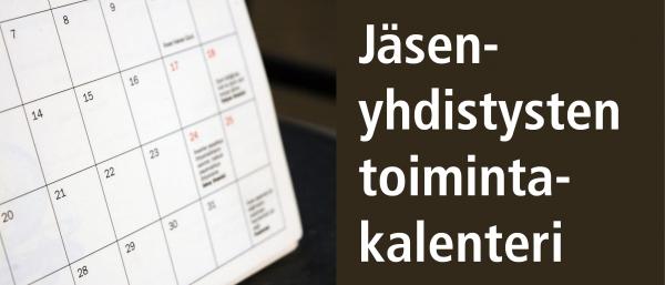Jäsenyhdistysten toimintakalenteri