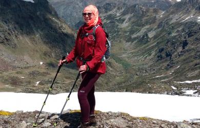 kuvassa Mirja Soini Kilpisjärvellä
