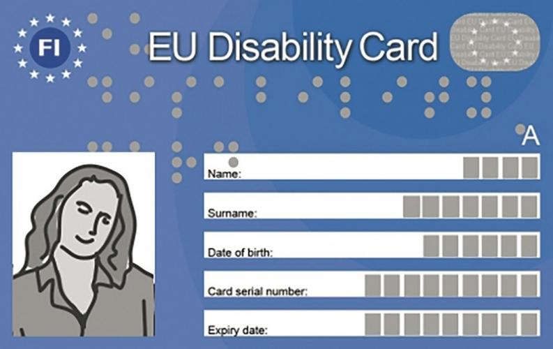 EU:n vammaiskortti käyttöön toukokuussa